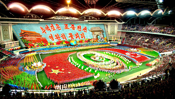 60 Year Anniversary of DPRK-PRC Friendship-themed Arirang Mass Games (Photo: Korean Central News Agency)
