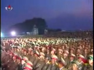 KPA soldiers getting ready to get ready for the KWP Anniversary's fireworks display. (Photos: KCTV)