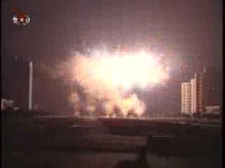 Fireworks over Pyongyang skies. (Photo: KCTV)