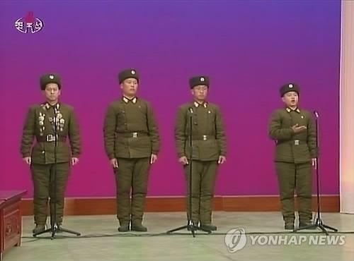 KPA service members involved in the shelling of Yo'np'yo'ng Island in November 2010 speak on DPRK state television (Photo: KCTV-Yonhap).