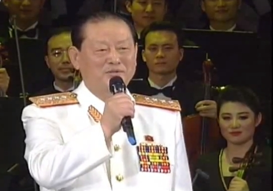 General Kim Won Hong performs a song during an April 2012 concert to mark International Women's Day (Photo: NK Leadership Watch file photo).