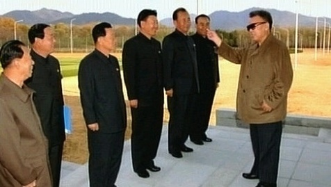 Ri Pyong Chol (second from right) at Kim Jong Il's first confirmed public appearance in November 2008 following his strokes during the summer of 2008 (Photo: Korean Central Television).