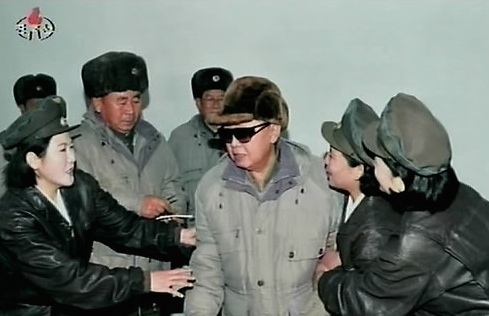 General Ri assists Kim Jong Il during November 2011, the last full of month of KJI's life (Photo: Korean Central TV).