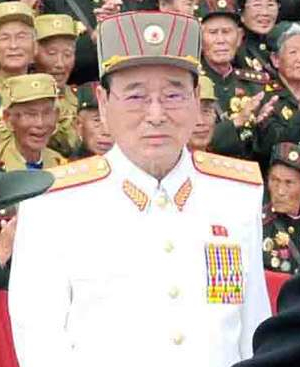 Gen. O Kuk Ryol at a commemorative photo session for war veterans in Pyongyang on 30 July 2013.