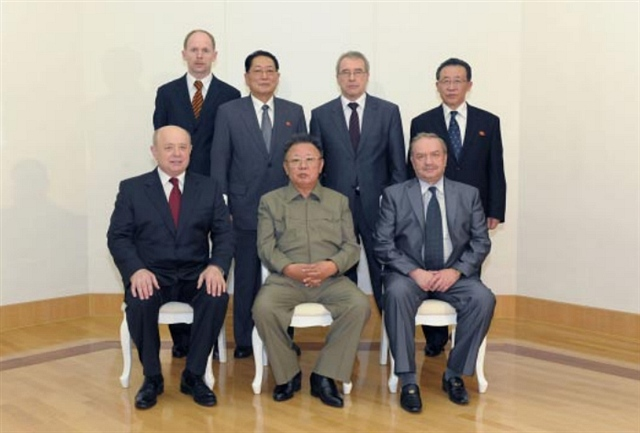 U Tong Chuk (2nd row, 2nd L) in May 2011 (Photo: KCNA).