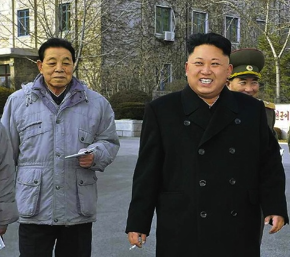 Kim Kyong Ok (L) with Kim Jong Un in 2013 (Photo: NK Leadership Watch file image).