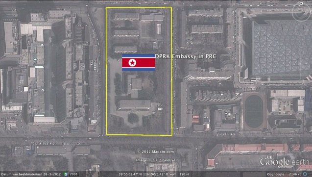 DPRK Embassy in Beijing (Photo: Google image)