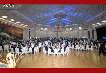 A view of the banquet (Photo: KCNA)