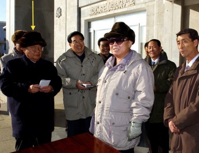 Jon Pyong Ho attends KJI's tour of the Rakwo'n Machine Complex in January 2005 (Photo: Rodong Sinmun).