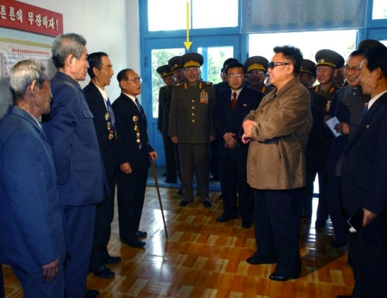 VMar Kim Il Chol (annotated) attends a KJI meeting with veterans in April 2003 (Photo: Rodong Sinmun)