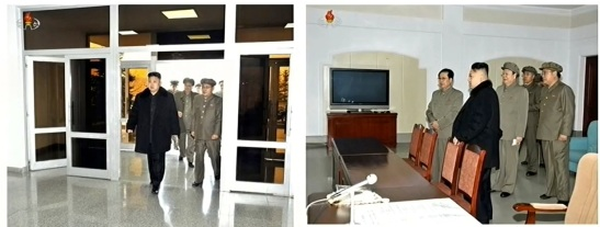 Kim Jong Un enters the GSCCC on 12 December 2012 to authorize and observe the launch of the U'nha-3 (Photo: KCNA/KCTV screengrab)