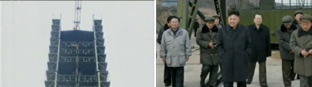 KJU tours the launch pad at Sohae Space Center (Photos: KCTV screengrabs)