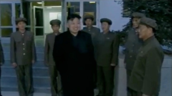 KJU departs from the GSCCC (Photo: KCTV screengrab)
