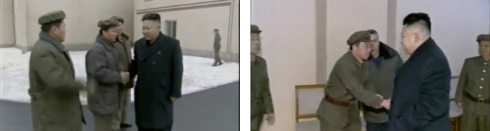 KJU greets GSLCC personnel (Photos: KCTV screengrabs)