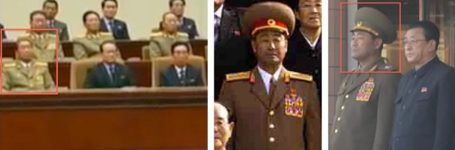 Kim Jong Gak attends a 16 December 2012 memorial service for KJI (L), poses for a 2010 commemorative photograph (C) and attends the opening of a Pyongyang snack bar in late October 2012 (Photos: Rodong Sinmun and KCTV screengrabs)