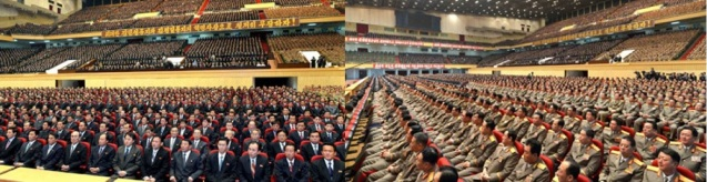 View of participants at a national memorial service held to commemorate the one year anniversary since the death of Kim Jong Il (Photos: KCNA)