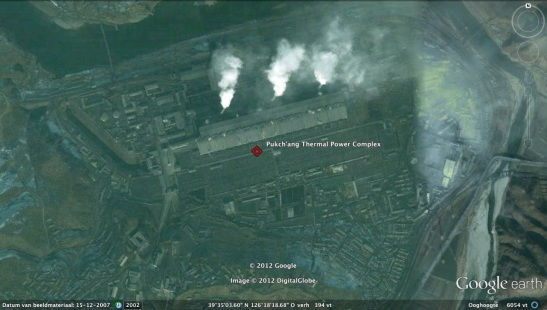 An overview of the Pukch'ang Thermal Power Complex (Photo: Google image)