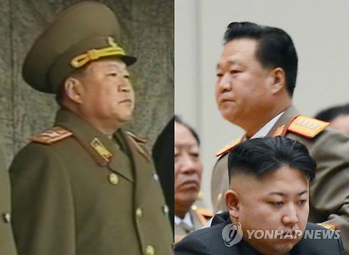 Director of the KPA General Political Department Choe Ryong Hae shown as KPA Vice Marshal (L) on 14 December 2012 and his rank reduction to KPA General (R) on 16 December 2012 (Photos: KCNA-Yonhap)