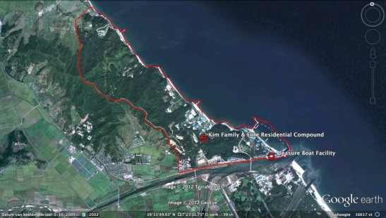 Overview of the Kim Family and DPRK elite residential compound in Wo'nsan (Photo: Google image)