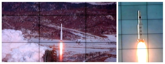 Images of the 12 December 2012 launch of the U'nha-3 (Photo: KCNA)