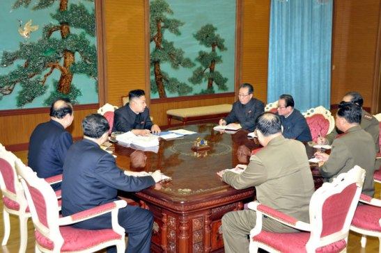 Kim Jong Un meets with senior officials