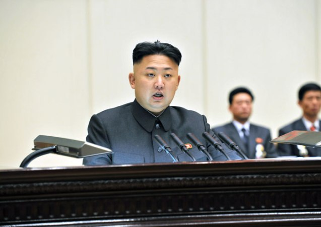 Kim Jong Un spekas during the last day of the 4th Meeting Party Cell Secretaries on 29 January 2013 in Pyongyang (Photo: Rodong Sinmun)