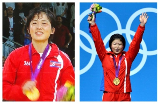 An Kum Ae (L) and Rim Jong Sim (R) (Photos: KCNA/Korea Sports Fund)