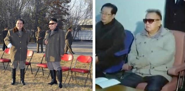 Jang Song Taek with Kim Jong Un in November 2012 and with Kim Jong Il in October 2011 (Photos: KCNA and KCTV screengrab)