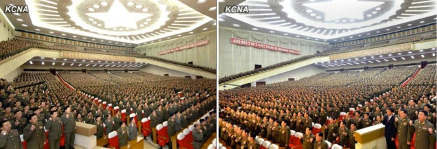 View of the 25 April House of Culture on 4 January 2013 when a meeting of KPA personnel pledged to implement tasks outlined in Kim Jong Un's New Year's Address (Photos: KCNA)