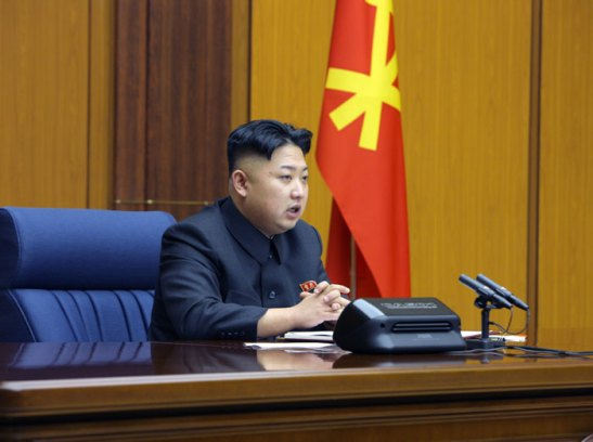 "Kim Jong Un delivers a speech during an enlarged meeting of the Party Central Military Commission which provided ""as guidelines for further strengthening the KPA into a matchless revolutionary army of Mt. Paektu and defending the security and sovereignty of the country as required by the WPK and the developing revolution."" (Photo: Rodong Sinmun)"