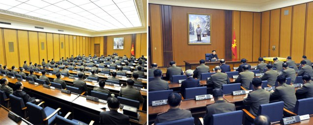 Overview of enlarged Party Central Military Commission meeting (Photos: Rodong Sinmun)