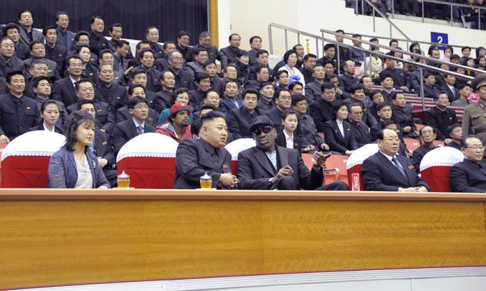 Kim Jong Un And Dennis Rodman Playing Basketball