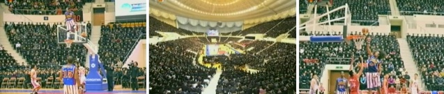 View of basketball games of US and DPRK basketball players in Pyongyang on 28 February 2013 (Photos: KCTC screengrabs)