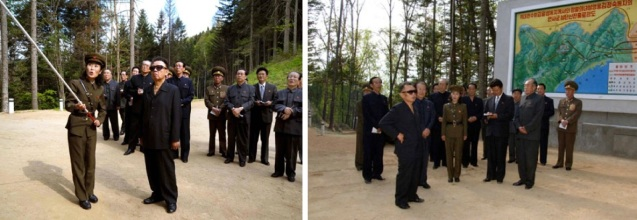 Late DPRK supreme leader Kim Jong Il tours revolutionary historical sites in Yo'nsa County, North Hamgyo'ng Province in his last reported public appearance before the DPRK conducted its second nuclear weapons test on 25 May 2009.