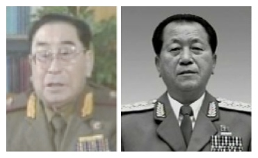 Previous Ministers of People's Security Paek Hak Rim (L) and Ju Sang Song (R) (Photos: KCTV screengrab and KCNA)