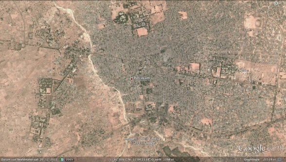 Potiskum, Yobe State, northeast Nigera where three DPRK nationals were killed early on 10 February 2013 (Photo: Google image)