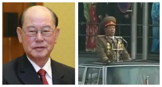 Gen. Ri Myong Su (L), last known Minister of People's Security and Col. Gen. Choe Pu Il (R) whom South Korean sources claim  replaced Ri as head of People's Security (Photos: Xinhua file photo and KCTV screengrab)