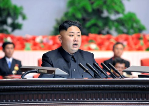 Kim Jong Un addresses the national meeting of light industry workers in Pyongyang on 18 March 2013 (Photo: Rodong Sinmun)