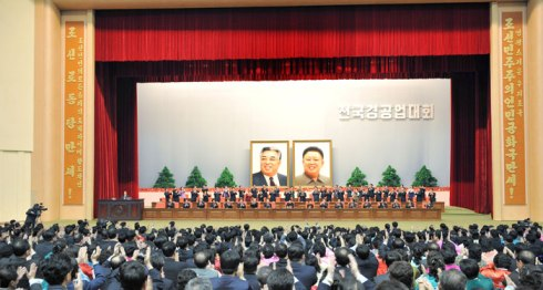 A view of the national meeting of light industry workers in Pyongyang on 18 March 2013 (Photo: Rodong Sinmun)
