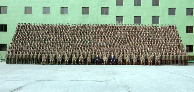 Commemorative photograph of Kim Jong Un and senior KPA officials with participants at a national meeting of KPA information officers on 28 March 2013 (Photo: Rodong Sinmun)