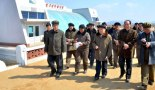 DPRK Cabinet Premier Choe Yong Rim (3rd L) tours the Jangsan Cooperative Farm in Ryongchon County, North Pyongan Province (Photo: Rodong Sinmun)