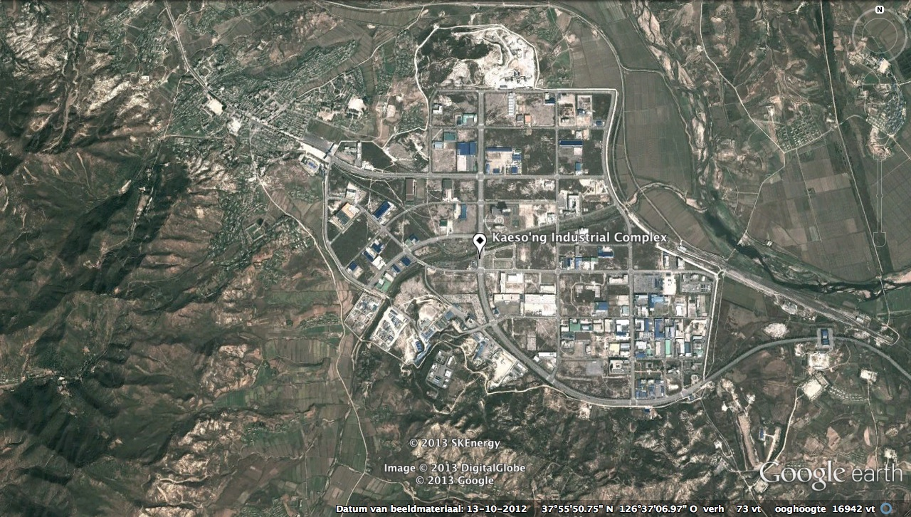Kaesong Industrial Complex (Kaesong Industrial Zone) (Photo: Google image/NK Economy Watch)