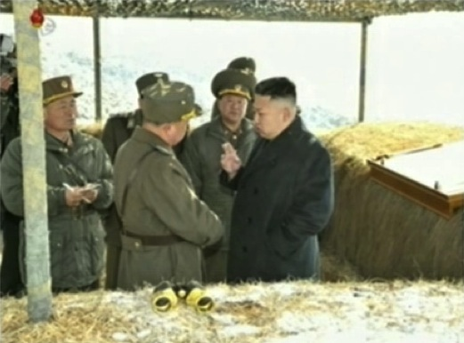 Kim Jong Un evaluates and issues instructions after live fire anti-aircraft drills (Photo: KCTV screengrab)