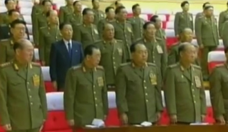 An expanded meeting of the WPK Central Military Commission held in March 2012 (Photo: KCTV screengrab).