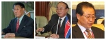 Senior officials of the DPRK Foreign Ministry: DPRK Cabinet Vice Premier Kang Sok Ju (L), Foreign Minister Pak Ui Chun (C) and 1st Vice Minister Kim Kye Kwan (R) (Photos: KCNA, Russian Federation Council and Kyodo)