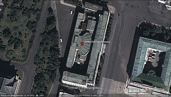 DPRK Foreign Ministry Building near Kim Il Sung Square in central Pyongyang (Photo: Google image)