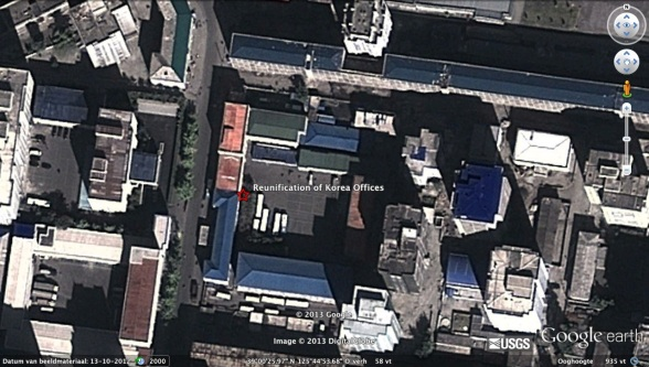 View of some of the offices of the Committee for the Reunification of Korea (Photo: Google image)