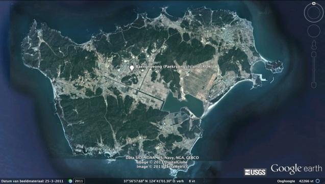 Paekryong (Baengnyeong) Island in the West (Yellow Sea) (Photo: Google image)