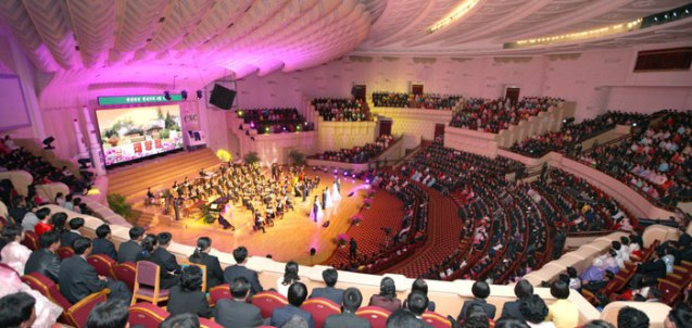 U'nhasu Orchestra concert at the People's Theater in central Pyongyang on 15 April 2013.  The concert was given to commemorate the 101st anniversary of the birth of Kim Jong Un's paternal grandfather, late DPRK President and found Kim Il Sung. (Photo: Rodong Sinmun)