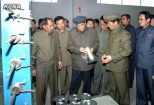 DPRK Cabinet Premier Pak Pong Ju (1) looks at a piece of equipment during a tour of the Sunchon Area Coal Mining Complex in South Pyongan Province (Photo: KCNA)